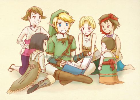 Story Time with Link by greenglassesgirl
