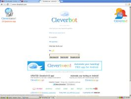 Screwing around with cleverbot by AlphaMoxley95