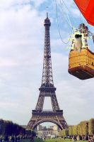 Electric Weasel Over Paris by TheAmishPornstar