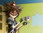 Sora's Tea Party Collab by deathbytacos