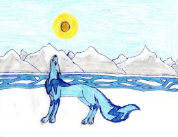 Wolf Under the Sunlight  {Sketched by My Daughter} by Empress-XZarrethTKon