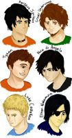 Boys of Percy Jackson and the Olympians by batbobbles
