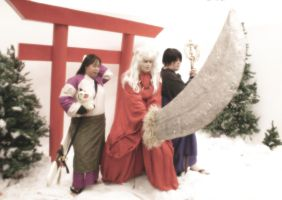 Inuyasha Winter Cosplay by AKI-Con