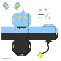 Shinx Papercraft by CharrChan