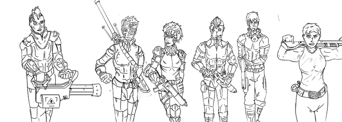 Goon Squad Lineart by Anarchy-1-0-1