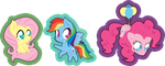 MLP Stickers Redone Part 1 by King-Reaper