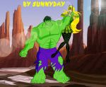 Hulk Vs Amora by sunnyday2000