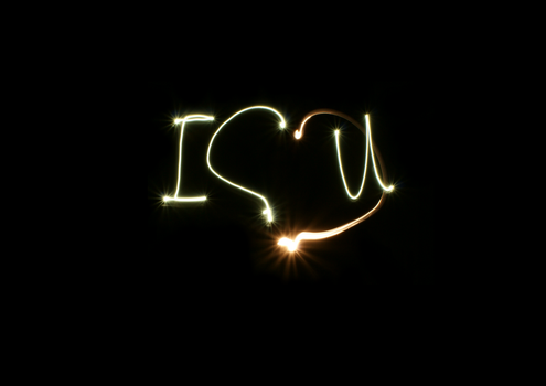 I love u (lightpainting) by Reomira