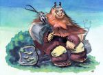 Viking and Great-Tailed Triok by Pocketowl