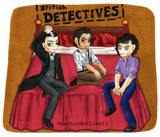 British detectives pin up XD by Deathlydollies13