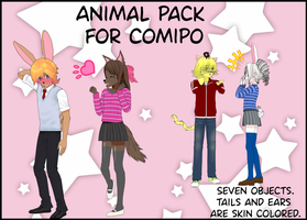 Animal pack for ComiPo. by BellaMbrianna