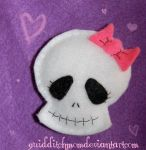 Ms Skull plushie magnet by quidditchmom