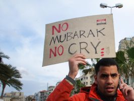 No Mubarak, No Cry by MahmoudYakut