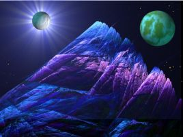 The Mountain in Space by AprilLight