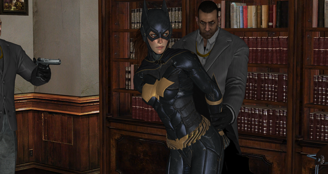 Batgirl captured by Black Masks Thugs (5) by integfred