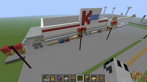 WIP Minecraft Kmart and shops by BowserHusky