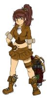 Steampunk Girl by Spunky-Sora