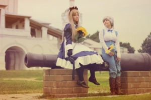 Belarus and Urkraine with sunflowers by Runioni