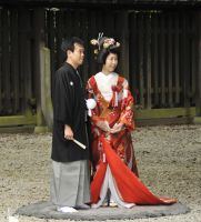 Wedding at Meiji Jingu Shrine by AndySerrano