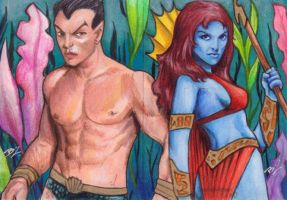 Namor and Lady Dorma by Ethrendil