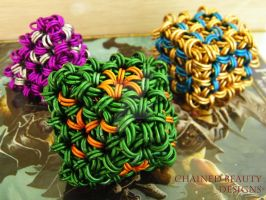 Chainmaille Dice - Set 1 by ChainedBeauty