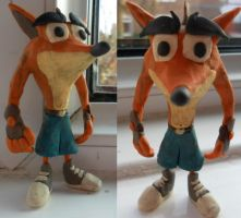 Crash Bandicoot Clay Model 2.0 by FierceTheBandit