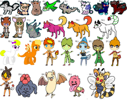 :Name Your Price: Leftover Adopts by ZealousAdoptables