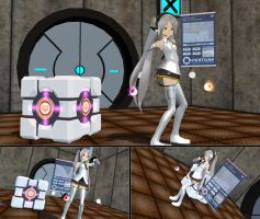 MMD GLaDOS Test Chamber WIP by Trackdancer