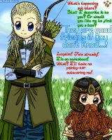 Legolas and Gimli by tailchan