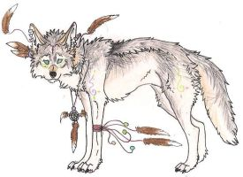 Native Wolf Auction 3 ::CLOSED:: by Crazywolfs