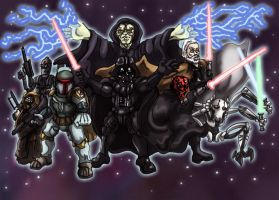 Star Wars Villains Commission by shinragod