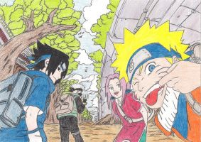 Team 7 embarks on a mission! by MagiaWody07