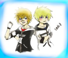 Roxas and Namine's Twins by GummyDrive