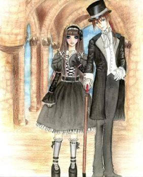miss Claudia and Sir Heartales by calyn