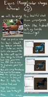 Equine manipulation color change tutorial(simple) by EquineLullaby