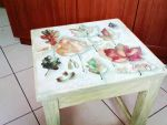 Autumn decoupage chair by InkKiller