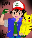 Pokemon Speed Drawing - Ash and Pikachu (Digital) by scarlettdraws