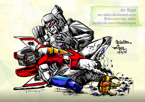 Megatron and Starscream Yaoi Slash Fanart by sw-eden