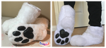 White Wolf Fursuit Sockpaws by TECHNlCOLOUR