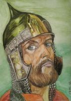 Alexander Nevsky (the famous Russian commander) by RED-ADLER
