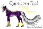 #1205 Quirlicorn Foal Design by DamienMuerte