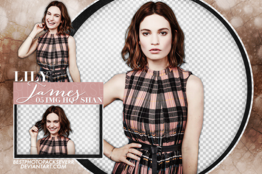 Pack Png 1592 - Lily James by xbestphotopackseverr