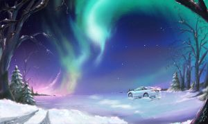 Northern Lights with Talon by supercrazzy