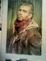 Gerard Pique wcolour portrait by ramessz