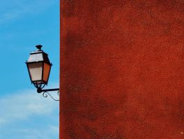 A WHITE LAMP FOR A RED WALL by isabelle13280