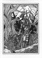Drizzt and Guenhwyvar by Jagarnot