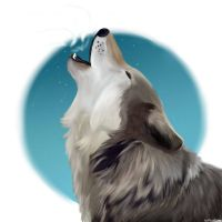 Howling wolf :D by WolfSoulKeeper