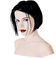 Kate Beckinsale Vector by Fel-Stalker
