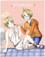 APH- Cupid and Valentine by Hawaiian-Brit