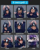 9 emotions by MAATY-S